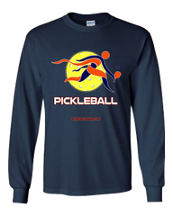 COLLEGE ORANGE & NAVY PICKLEBALL LONG SLEEVE SHIRT