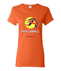 COLLEGE ORANGE & NAVY PICKLEBALL WOMEN'S TEE