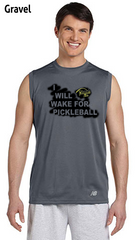 I Will Wake For Pickleball Men's New Balance Ndurance Sleeveless Tee