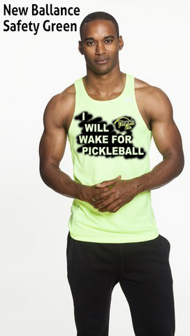 I Will Wake For Pickleball Men's New Balance Tank Top Singlet