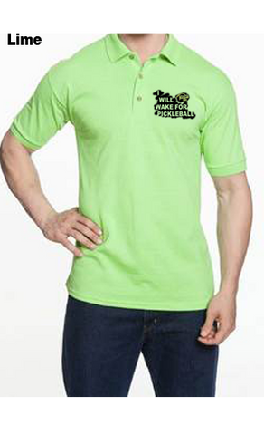 I Will Wake For Pickleball 50/50 POLY/COTTON UNISEX POLO SHIRT