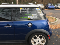 "Pickleball, It's What I Do Now Two Color Vinyl Decal 6, 12, 24"" Wide"