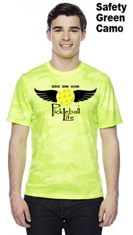 Pickleball Life Wings Unisex Champion Camo Colors Athletic Workout Tee