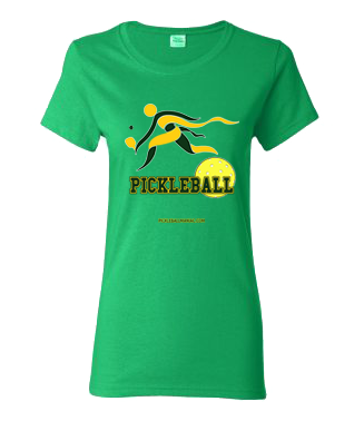 COLLEGE GREEN & YELLOW WOMEN'S TEE