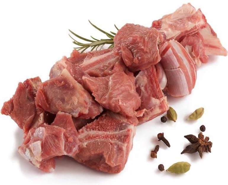 Lamb Mixed Meat On The Bone 1kg (Cubed) - Halal