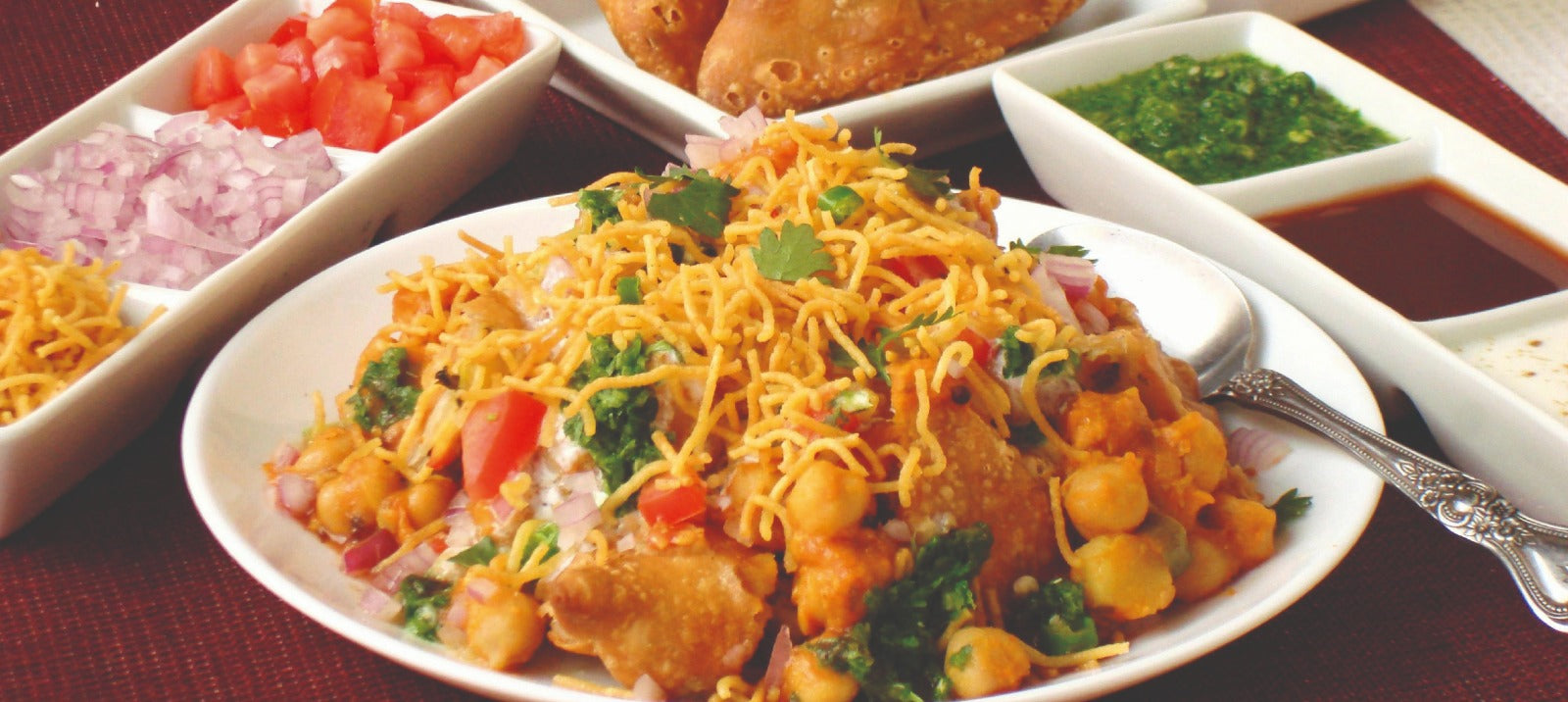 Samosa Chaat (Cooked Reedy to Eat)
