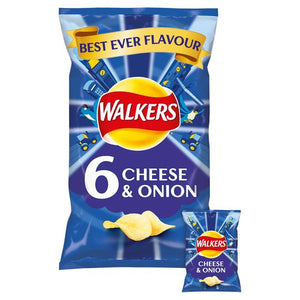 Walkers Cheese & Onion Crisps 6pk