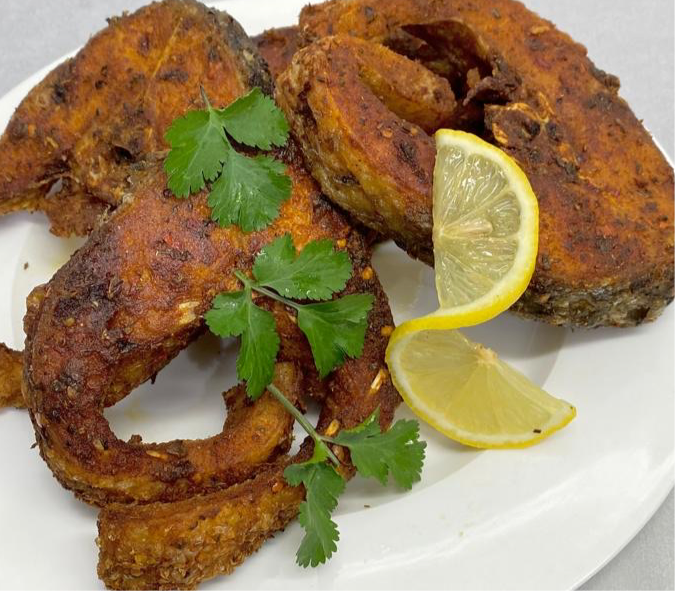 Masala Fish Steaks (Rahu) 500g (Cooked just Heat and Eat)