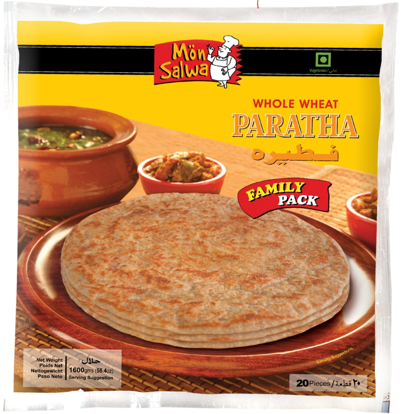 MonSalwa Whole Wheat Paratha family pack