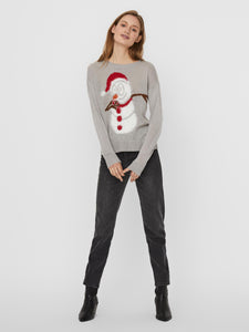 VMFRIENDLYSNOWMAN LS O-NECK BLOUSE - 10235684