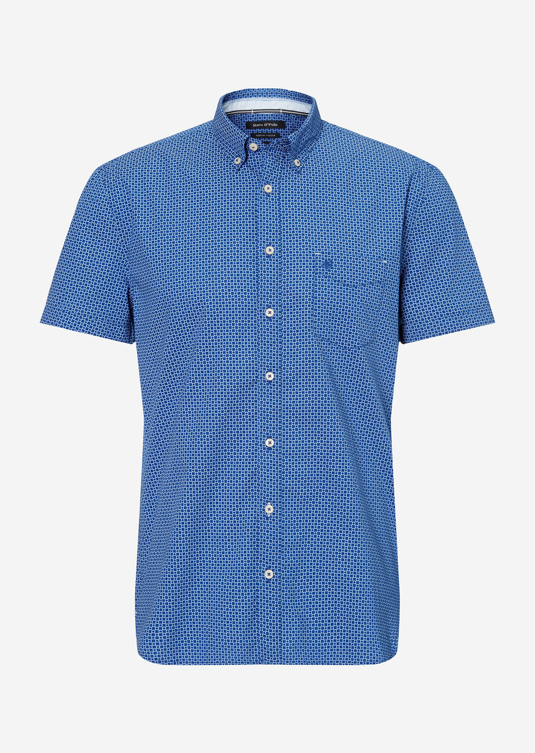 Button down,short sleeve turned up, - 023720141002