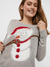 Laden Sie das Bild in den Galerie-Viewer, VMFRIENDLYSNOWMAN LS O-NECK BLOUSE - 10235684