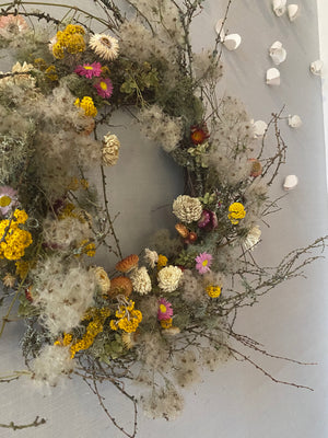 Open image in slideshow, Wreath by Kitten Grayson Flowers