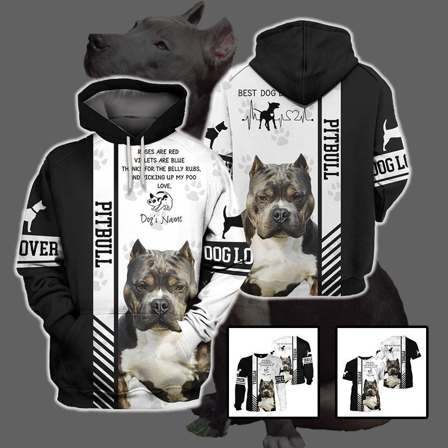 3d apparel - Best dog dad ever - Pitbull