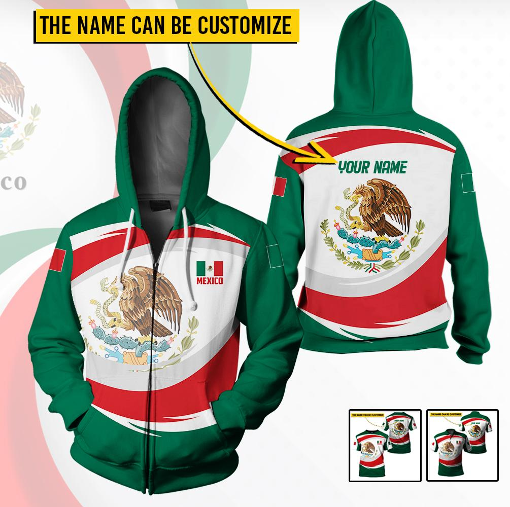Mexico Unisex Clothing with Customizable Name - 3D Full Printing