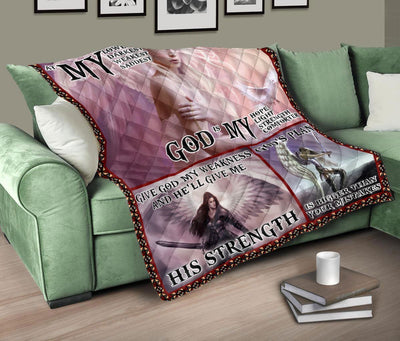 Trending Christian Quilt Collection - At My Lowest God Is My Hope Quilt ql-hg40 - GnWarriors Clothing