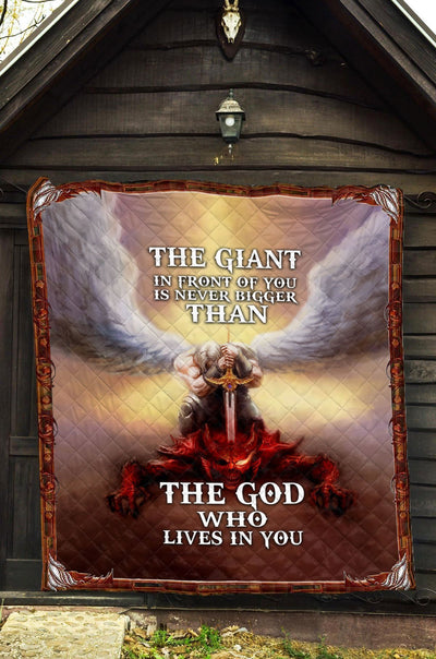 Trending Christian Quilt Collection - The God Who Lives In You Quilt ql-hg64 - GnWarriors Clothing