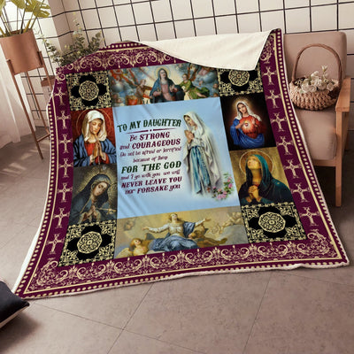 Trending Christian Quilt Collection - To My Daughter - Be Strong And Courageous - GnWarriors Clothing