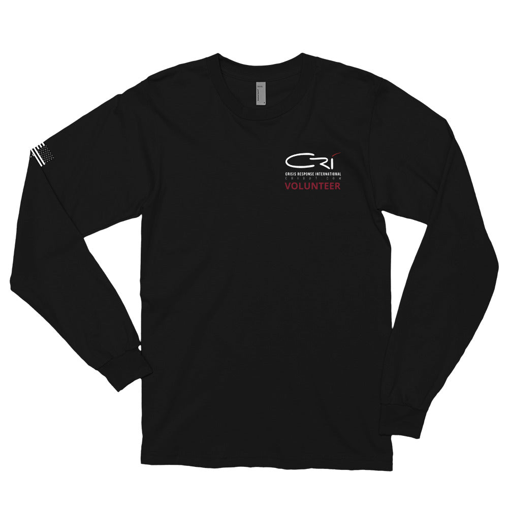 CRI Responder // American Flag // Uni-Sex // Long Sleeve T-Shirt