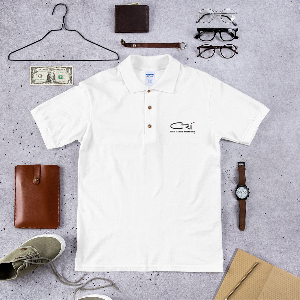 Embroidered Polo Shirt // White