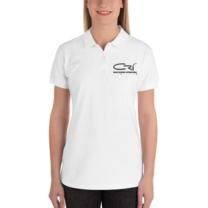 Embroidered Women's Polo Shirt // White