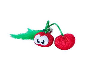 Catnip Crinkle Toy - Cherries