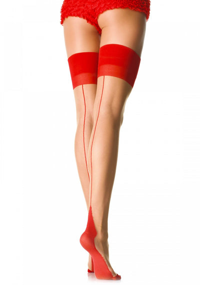 Sheer 2 Tone Stockings - Pikante Tienda Erotica
