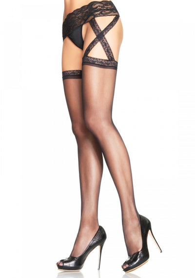 Sheer Garterbelt Stockings - Pikante Tienda Erotica
