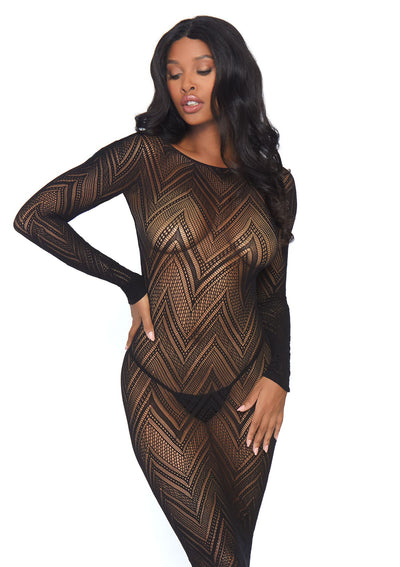 Long sleeved body con dress - Pikante Tienda Erotica