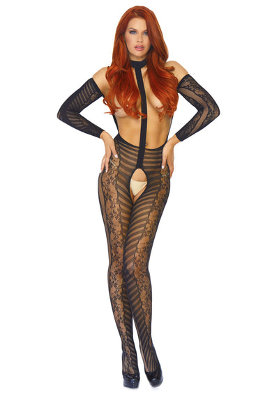 Reversible lace bodystocking - Pikante Tienda Erotica