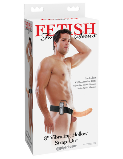 "Fetish Fantasy Series 8"" Vibrating Hollow Strap-On - Pikante Tienda Erotica"