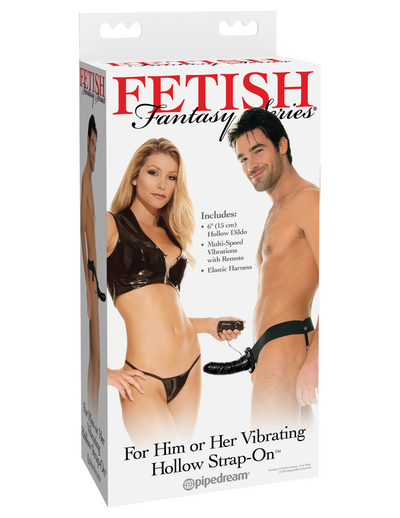 Fetish Fantasy Series For Him or Her Vibrating Hollow Strap-On - Pikante Tienda Erotica