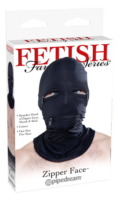 Fetish Fantasy Series Zipper Face Hood - Black - Pikante Tienda Erotica