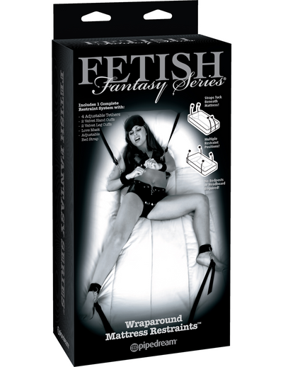 Fetish Fantasy Series Limited Edition Wraparound Mattress Restraints - Black - Pikante Tienda Erotica