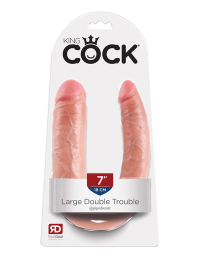 King Cock U-Shaped Large Double Trouble - Pikante Tienda Erotica