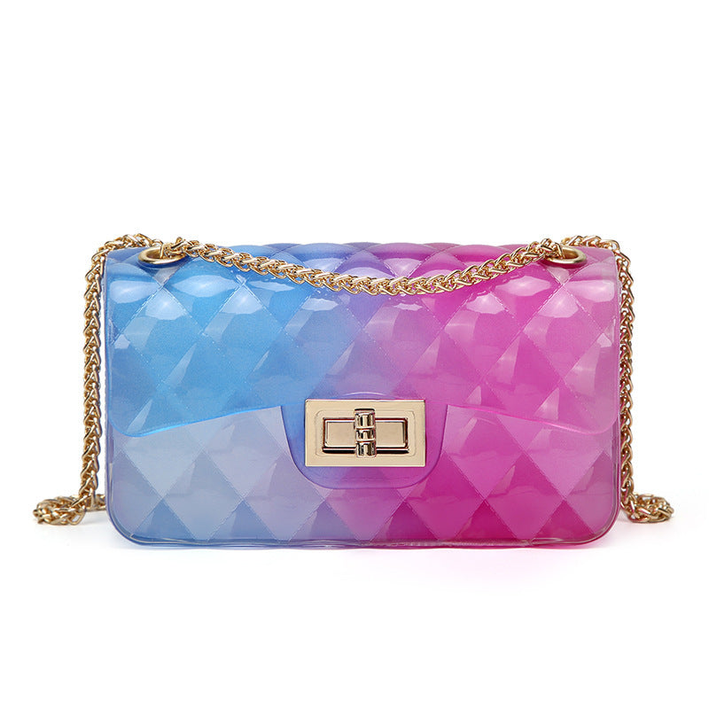 CARLO DALI Rainbow Transparent Crossbody Bag