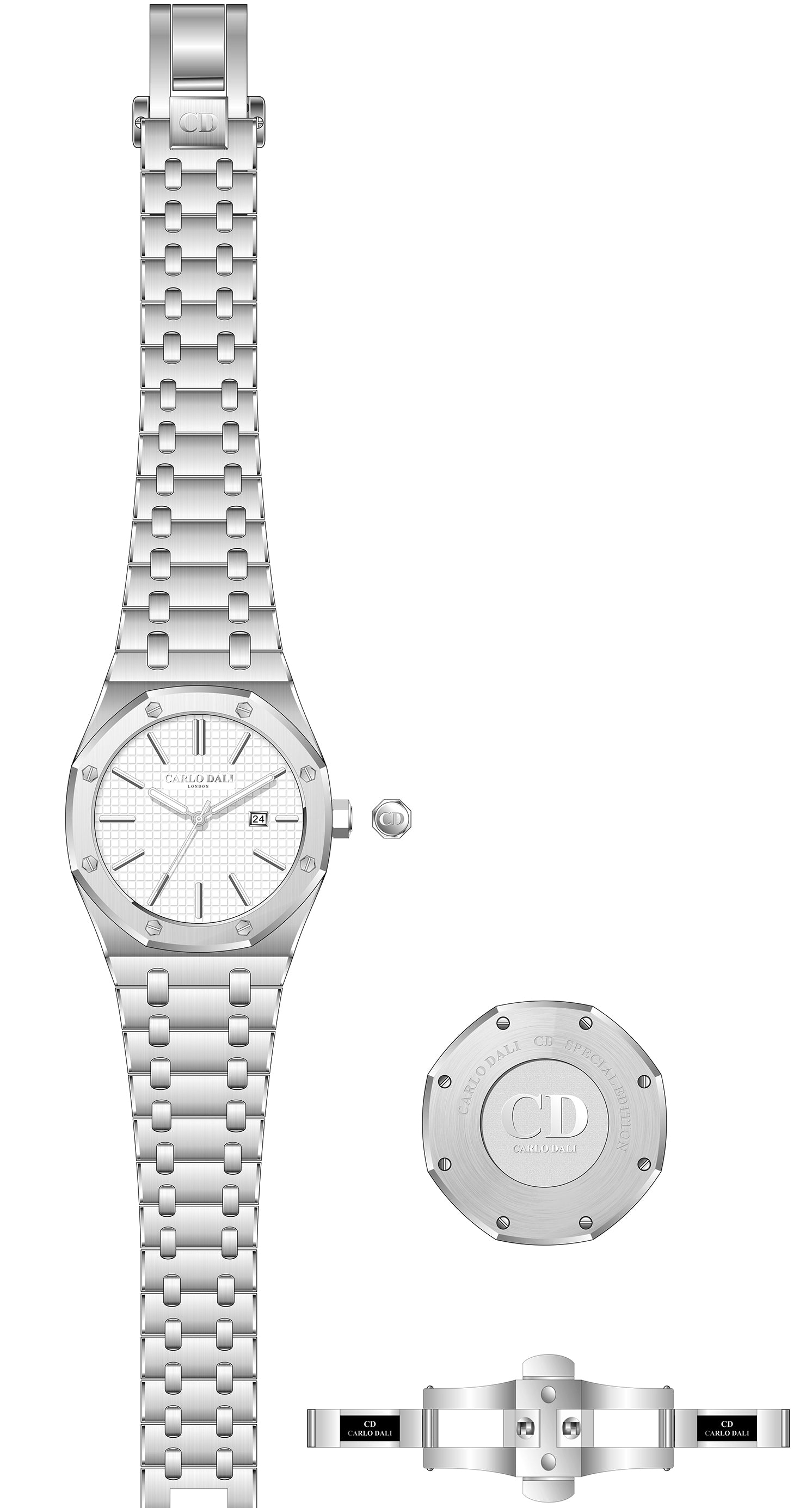 CARLO DALI Royal Geometric White