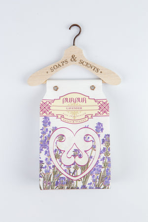 Soap Heart with Hanger Lavender