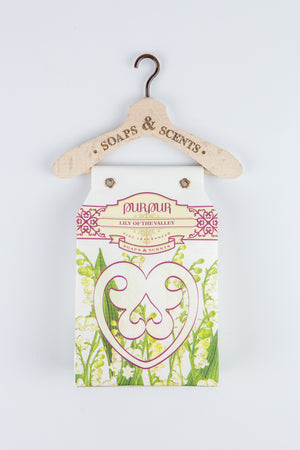 Soap Heart with Hanger Lily of the Valley