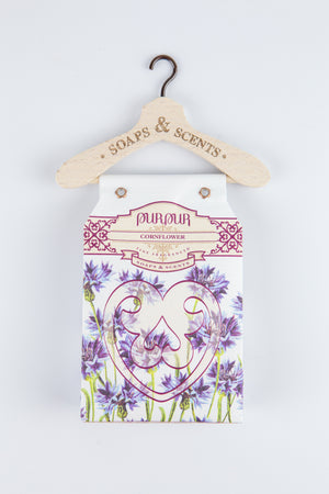 Soap Heart with Hanger Cornflower