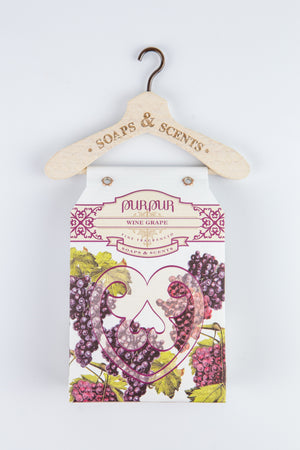 Soap Heart with Hanger Wine Grape