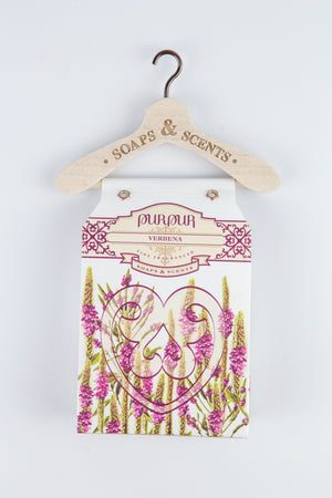 Soap Heart with Hanger Verbena