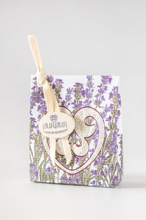 Soap Heart with Logo Lavender