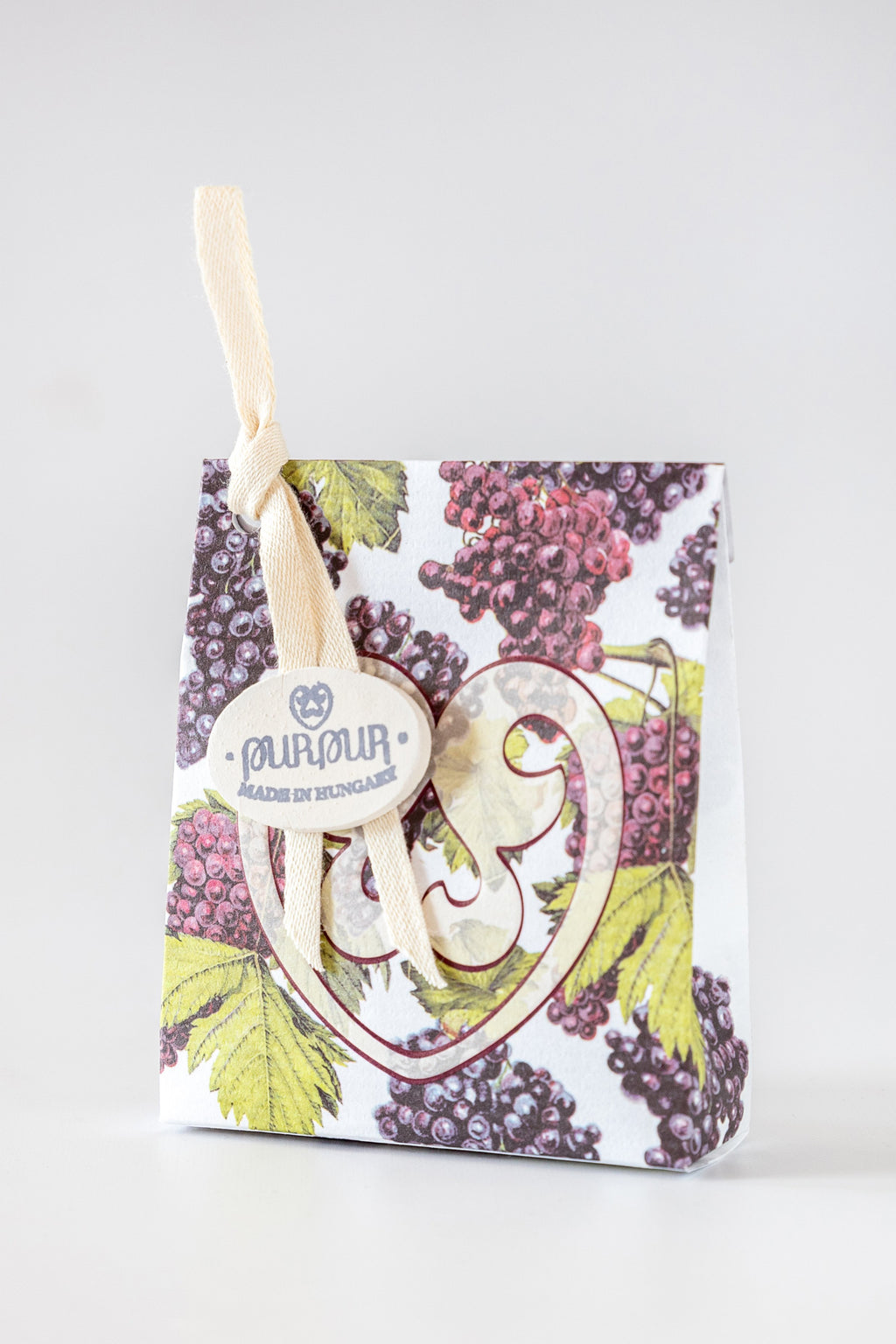 Soap Heart with Logo Wine Grape