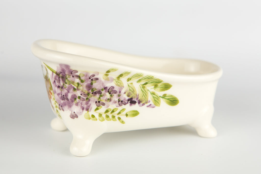 Soap Holder Bathtub Acacia