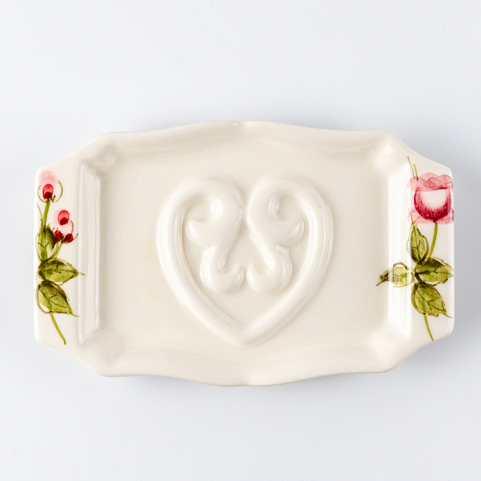 Soap Holder Flat Rose Garden