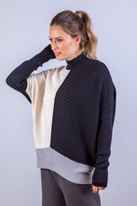 MADISON JUMPER BLACK & WHITE