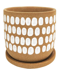 Load image into Gallery viewer, Terra Planter With Saucer Mocca - Medium