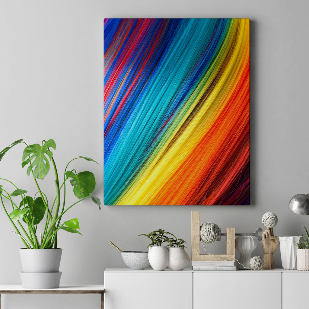 Colorful contemporary canvas