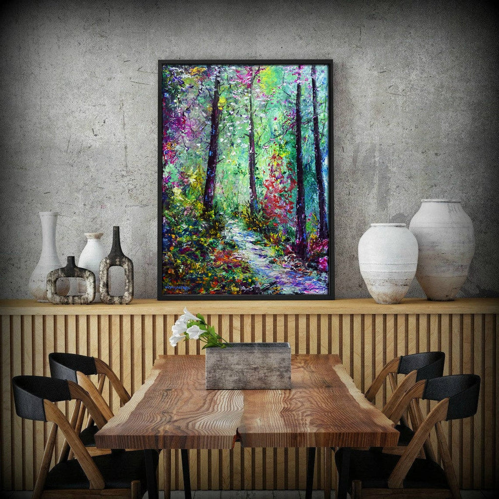 Spring forest - canvas print